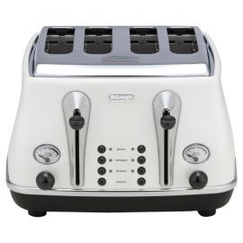 Buy De'Longhi Icona CTO4003 4 Slice Toaster - White from our Toasters range - Tesco