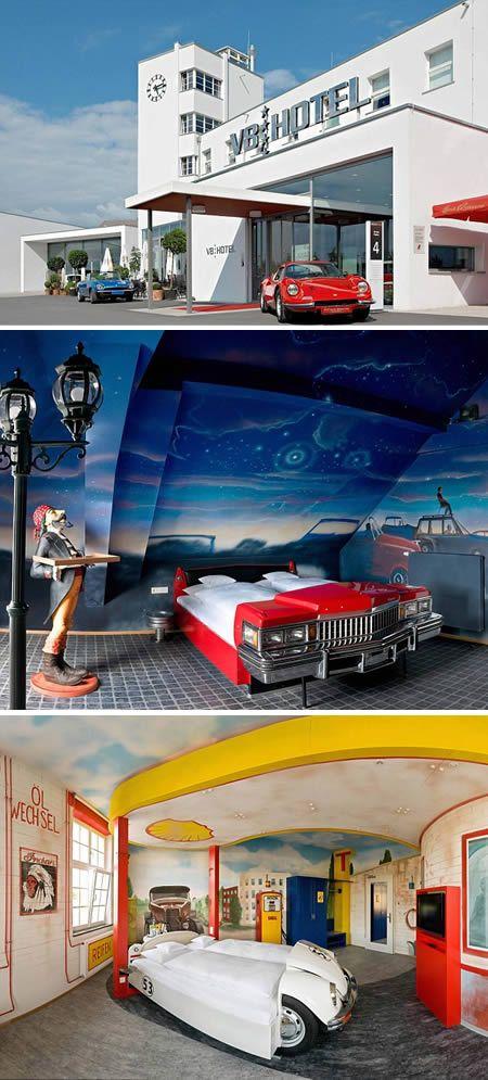 V8 Hotel (Germany): a car-themed hotel #Unusual #Hotel