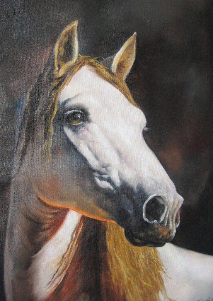 Pintura Moderna al Óleo: Pinturas caballos al óleo sobre lienzo