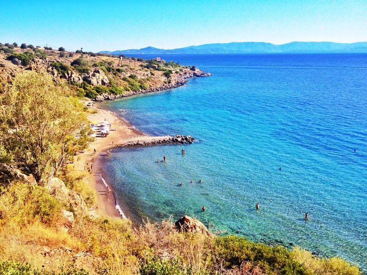 The famous Sarpàs Beach in Aegina Island. Ph. Laura Novel