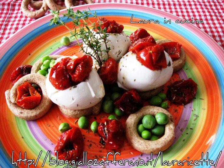 Pomodorini confit con mozzarella,ricetta secondi