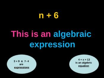 This Power Point covers the concept Writing Algebraic Expressions and Pre-Algebra Vocabulary.  It includes daily Warm Ups to take you through the skill, suggestions for interactive activities, notes, discussion points, and practice.There is a lesson on Pre-Algebra Vocabulary with practice problems to complete as a class.