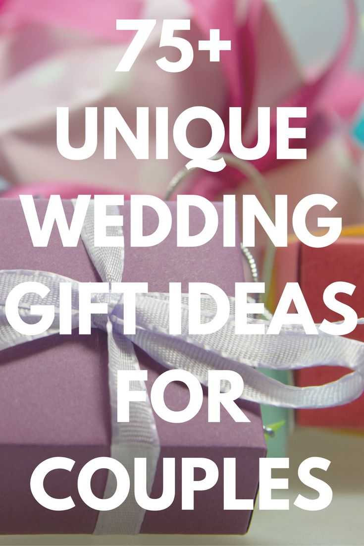 Discover the best wedding gifts ideas for couples today. Over 75 personalized, unique, and thoughtful wedding gifts every bride and groom will love. Plus wedding presents for him or her. These practical gifts for newlyweds will last longer and be cherished. Repin now for later. #wedding #gifts #ideas #bride #groom #couples #unique #personalized #presents #newlyweds #him #her