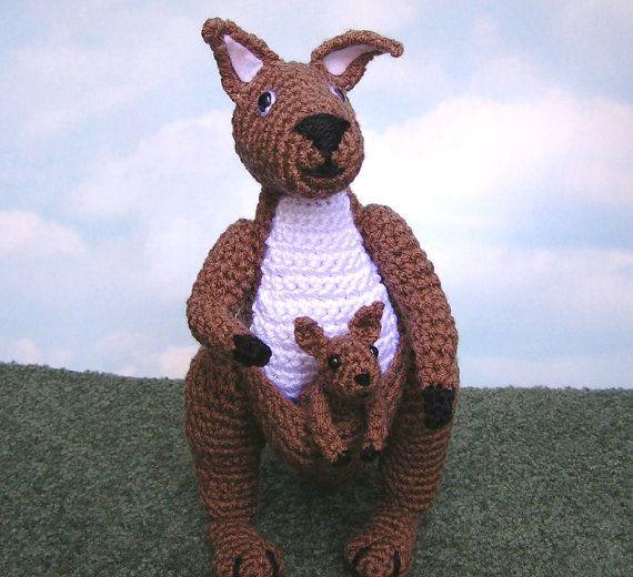 Toy Kangaroo Knitting Pattern : 100 best images about Crochet - Kangaroos And Koalas ! on Pinterest Toys, P...