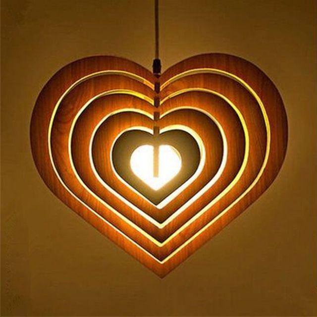 Несколько Сердце Дерево Подвесные Светильники Античный Американский Старинные Ретро Лампа Дизайн Кухни для Ресторан/Гостиная PLL-713