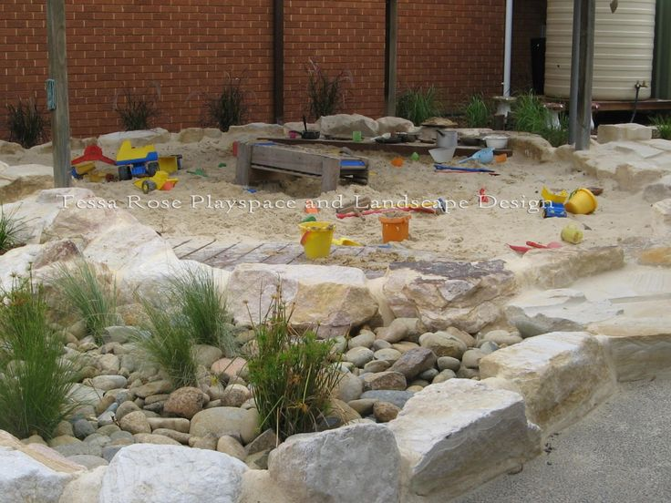 St Andrews Kindergarten, Abbotsford, Sydney, New South Wales  Main Playspace, Sand and water play area, After, 2012
