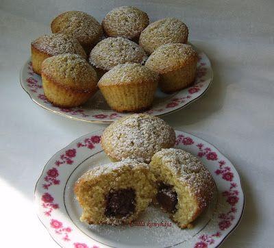 Csilla konyhája, mert enni jó!: Diós- csokis muffin
