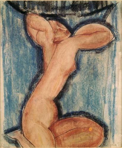 Caryatid by Amedeo Modigliani; 1911. Expressionism. Musée d'Art Moderne de la Ville de Paris, Paris, France.