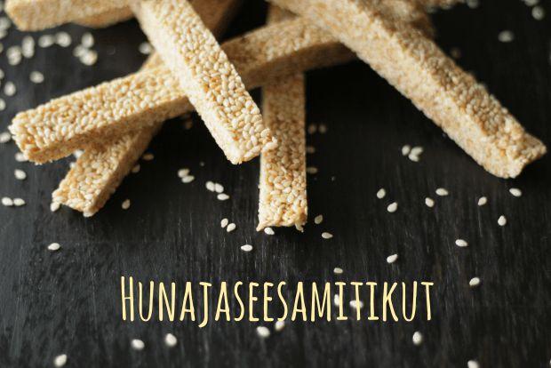 Karkkipäivä: Hunajaseesamitikut (viljaton, luonnollisesti makeutettu, munaton, pähkinätön) | Elämänmakua maistelemassa