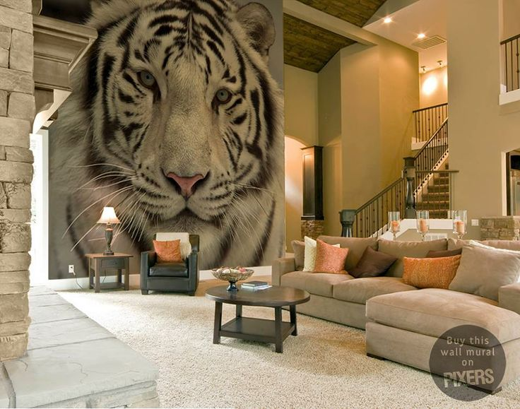 Tiger Wall Mural By Pixers Mural Pinterest Tigers