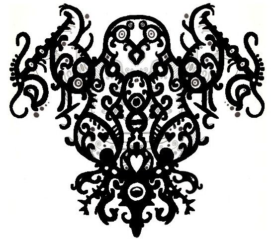 for back of the neck tat....but more owly eyes