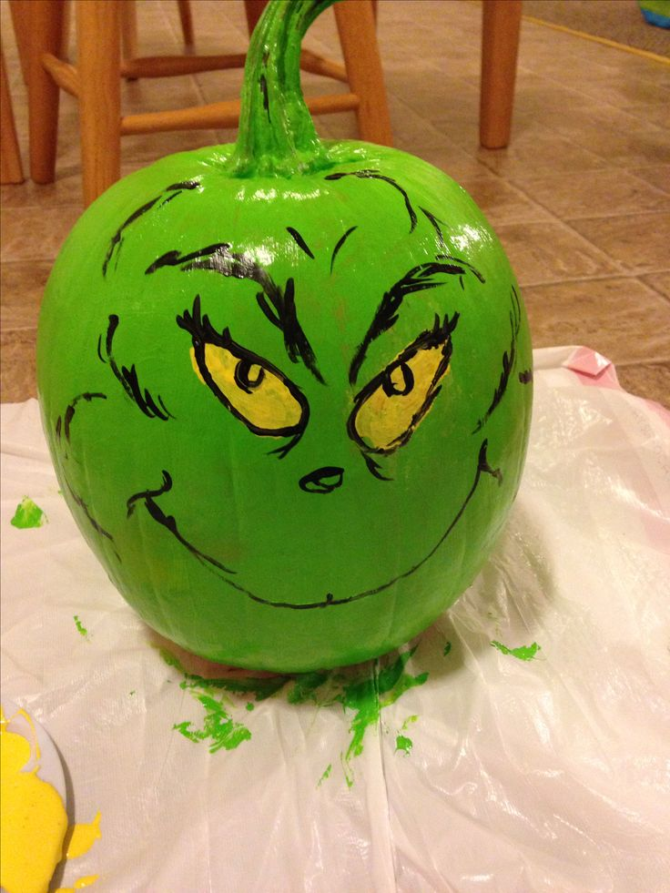 Book Character Pumpkin - The Grinch
