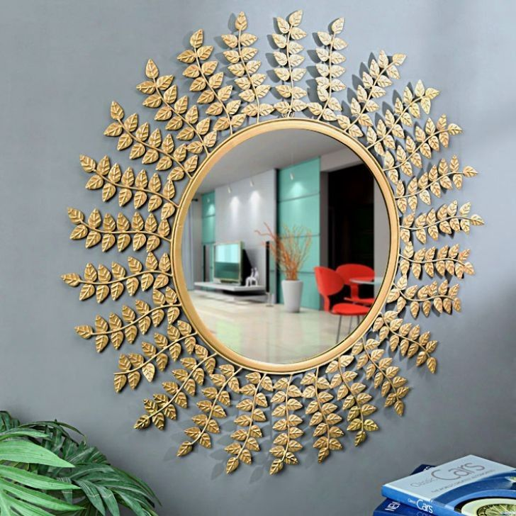 Flourish concepts  Leaves wall decorative  Mirror