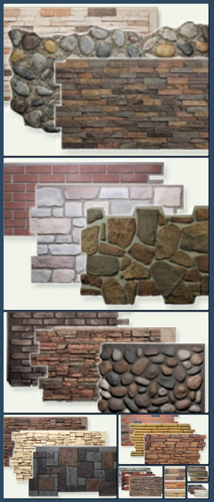 Faux stone panels faux brick faux wood natural look for Brick stone siding