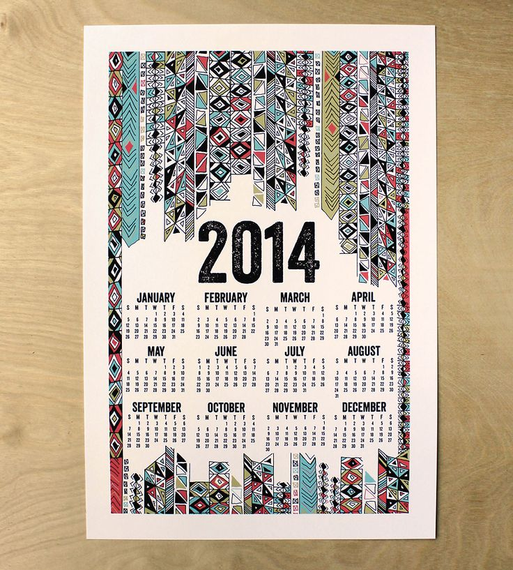2014 Poster Calendar - Tribal Design | Gifts Cards & Stationery | Made by Michelle Brusegaard | Scoutmob Shoppe | Product Detail