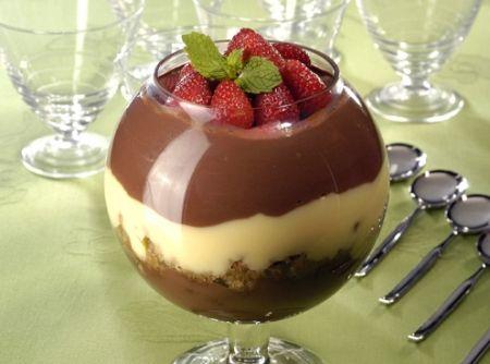 Receita de Charlote de Café com Chocolate! Delícia! #chocolate #chocolat #cafe #coffee #dessert #sobremesa #food #morango #strawberry #doce #natal #christmas #comida