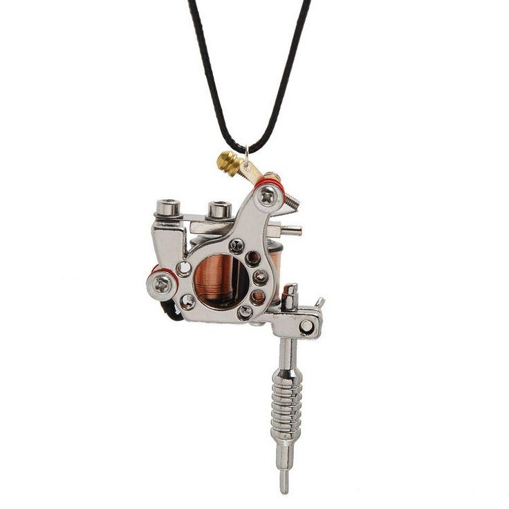 Изысканные Ювелирные Изделия 1 ШТ. Gunmetal Мини Машина Татуировки Ожерелье Панк…