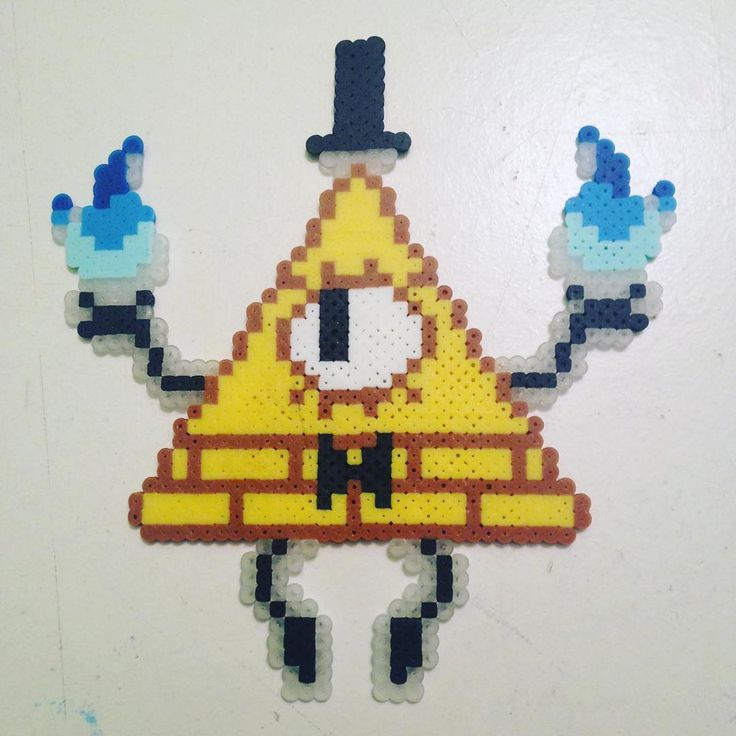 Bill Cipher - Gravity Falls mini perler beads by ewirtz217
