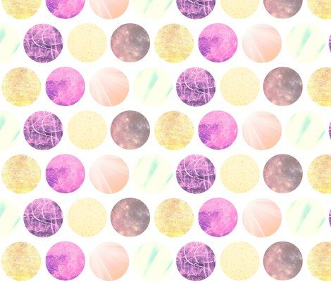 Agar Plates in Pink & Yellow fabric design on Spoonflower.