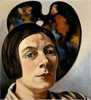 Self-Portrait with Palette, oil on canvas, 1934 by Charley Toorop (Dutch 1891 –1955)