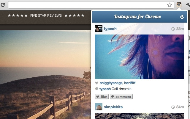 View your IG feed using your Chrom Browser - Instagram for Chrome Extension