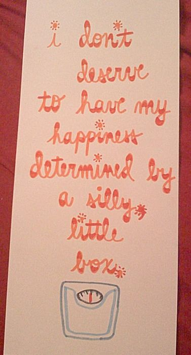 I don't deserve to have my happiness (or worth) determined by a silly little box.