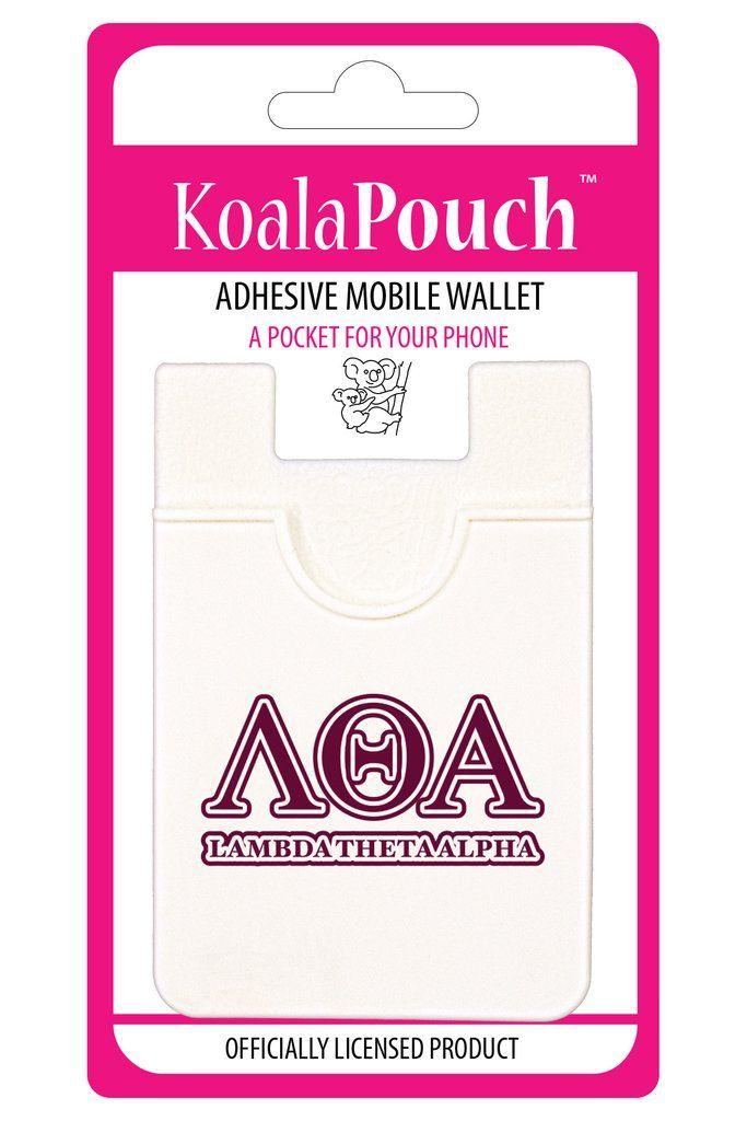 Lambda Theta Alpha Koala PouchAdhesive wallet for your phone