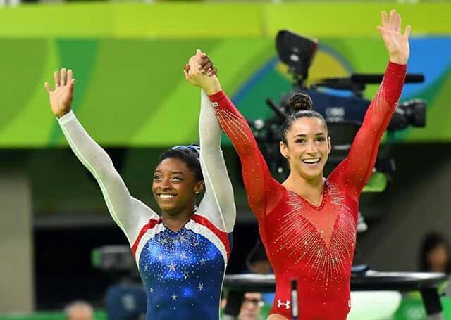 RIO OLYMPICS - Simone Biles GOLD and Aly Raisman SILVER