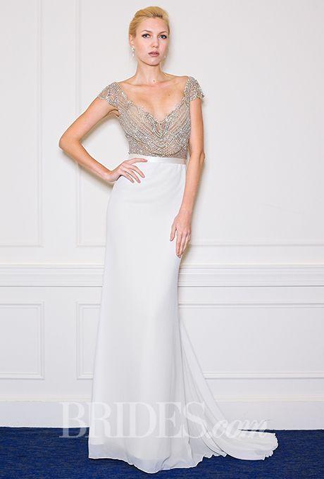 A wedding dress that has a two-piece effect | Brides.com