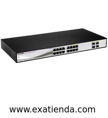Ya disponible Switch Dlink dgs 1210   (por sólo 188.99 € IVA incluído):   -Interfaz • 12 Gigabit Ethernet 10/100/1000 Mbps puertos • 4 uplinks Gigabit Combo 10/100/1000Base-T/SFP  -Interpretación / resiliencia • Capacidad de conmutación: 32 Gbps  -Seguridad • ACL basado en direcciones MAC, direcciones IP (ICMP / IGMP / TCP / UDP), ID de VLAN, prioridad 802.1p o DSCP • 802.1X admite la autenticación RADIUS • Servidor DHCP de detección 1 • ARP Spoofing Prevenció