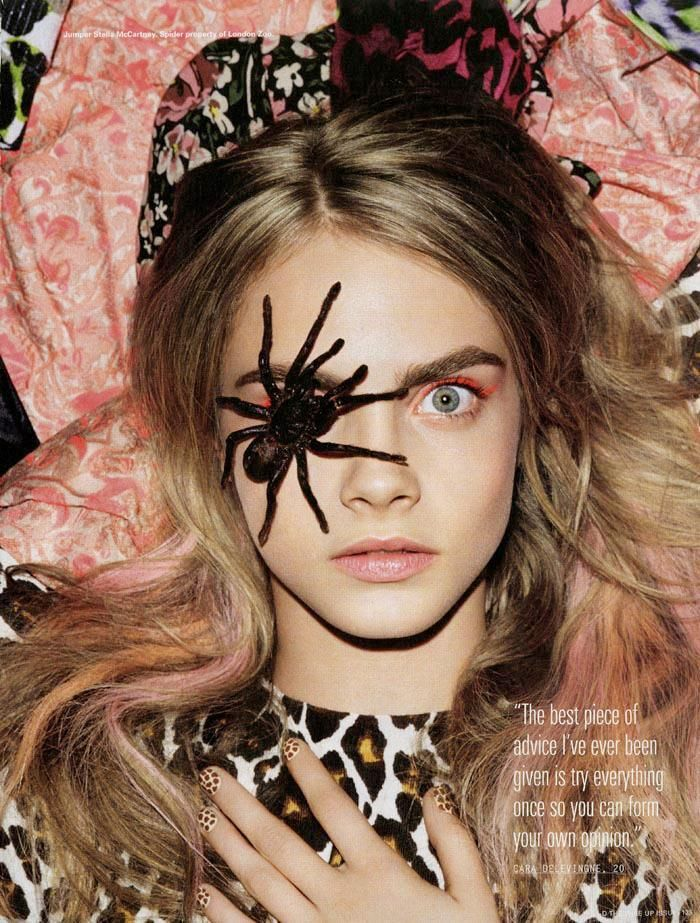 Cara Delevingne in iD, fall 2012