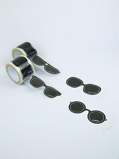 tape: Sunglasses Architects, Sunglasses Crafts, Paper Sunglasses, Sticky Tape, Masks Tape, Packs Tape, Sunglasses Tape, Washi Tape, Packaging Ideas Sunglasses