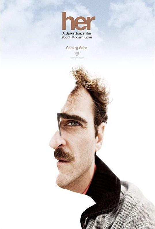 Her (2013) - A Spike Jonze Love Story #Poster - Never seen the movie by this poster is awesome!