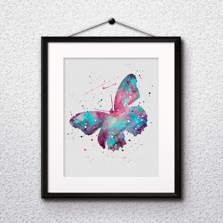 Butterflies watercolor art prints, posters, wall paintings, home decor