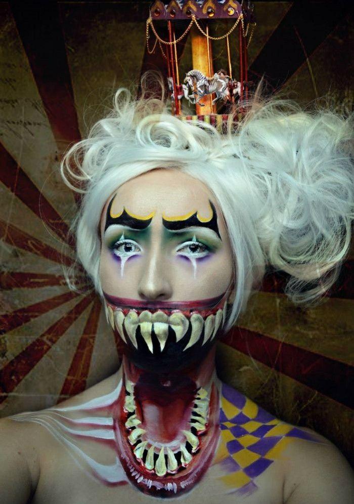 Circus Inspration for the Halloween Makeup