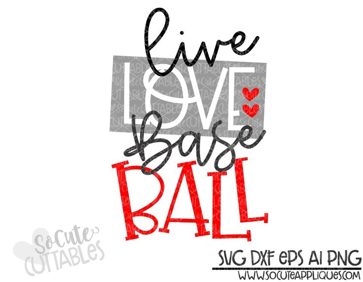 Get Live Love Softball Cutting File Design
