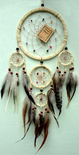 Handmade Native American Indian Dreamcatcher Suede Leather Bad Dream Catchers | eBay