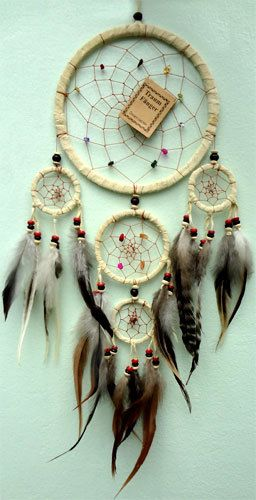 Handmade Native American Indian Dreamcatcher Suede Leather Bad Dream Catchers | eBay