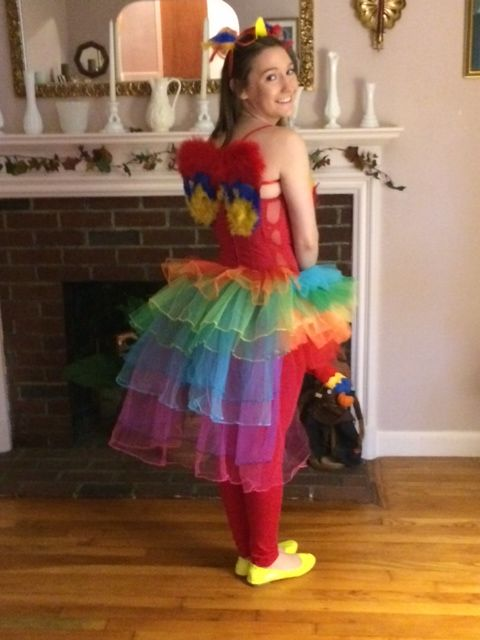 Homemade Bird Costume For Women DIY Adult Parrot Hallo...