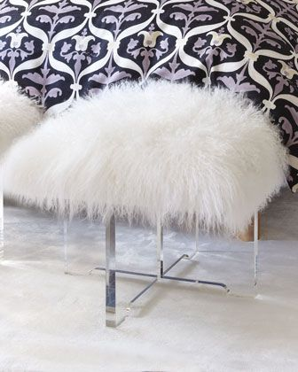 Jonathan Adler Sheepskin Bench --- enough said!