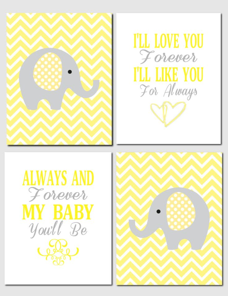 72 best Yellow and Grey Nursery Decor images on Pinterest | Kid wall ...