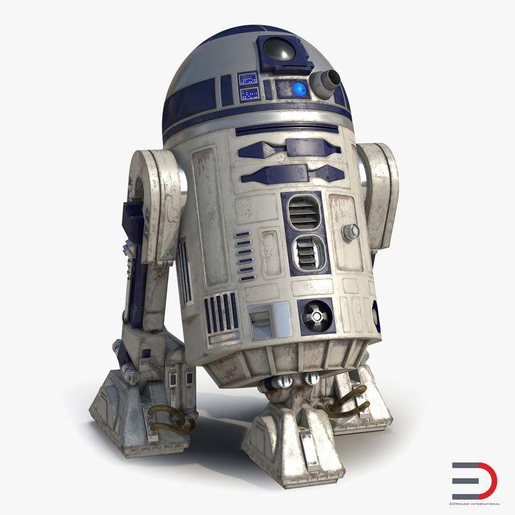 3d model of R2 D2 #R2D2 #3d #model http://www.turbosquid.com/3d-models/max-r2-d2/980644?referral=3d_molier-International