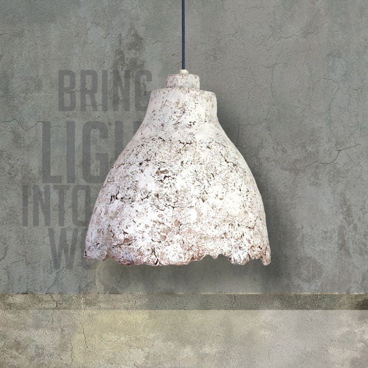 "The PaperMoon Factory, ""Eggshell Concrete Light"""