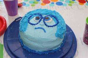 Sadness birthday cake from Disney movie Inside Out #insideout #Disney ...