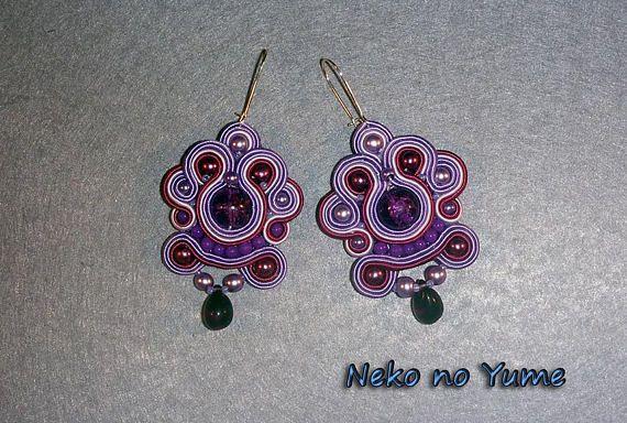 Soutache earrings   Fantasy