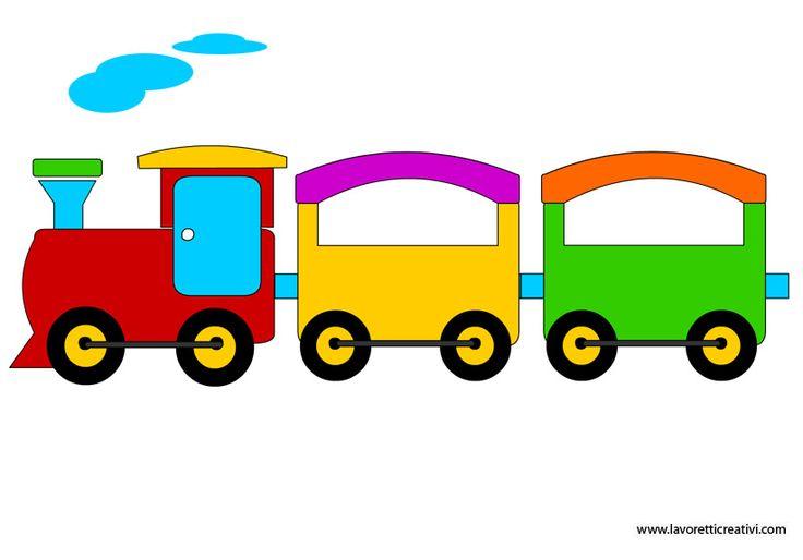 SAGOME TRENINO Sagome utili a realizzare su cartoncino o tavole di compensato un trenino per la parete della camera del bambino.