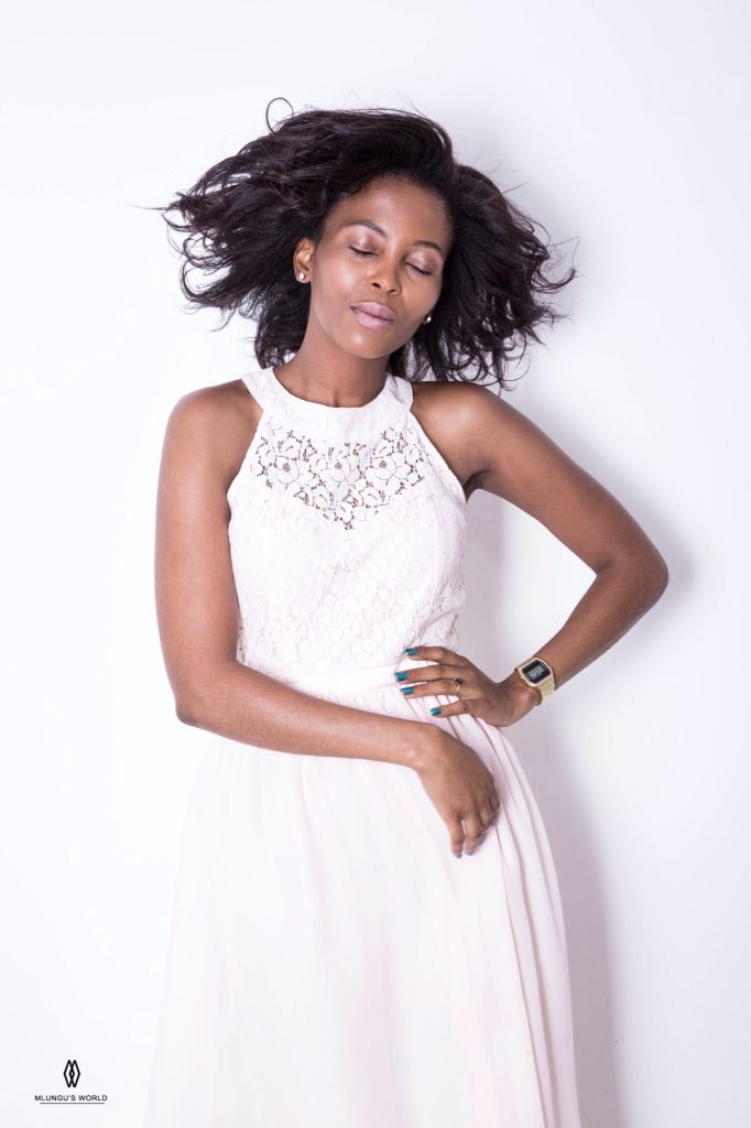 mrp.com dress, big natural hair + amusing thought.