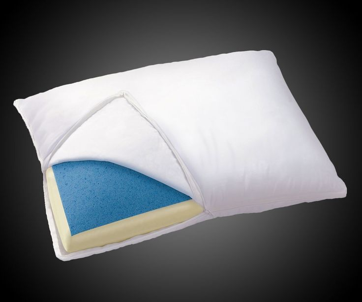 The comfort of not waking up unable to rotate your neck more than 5 degrees to the left meets the comfort of not waking up sweatier than a fat man doing hot yoga in a polyester leisure suit. Sleep Innovations' reversible Gel-Memory Foam Pillow adds a co