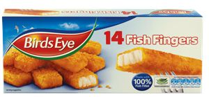 100% Fish Fillet Fingers from Birds Eye