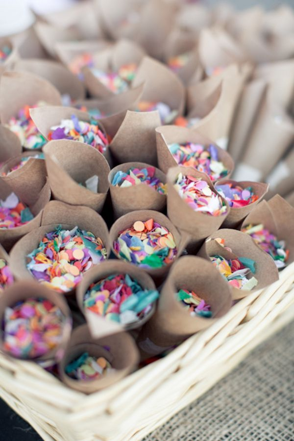 "partymarshmallow: "" Confetti cups for the end of the ceremony """